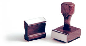 Traditional Wood Handle Rubber Stamp